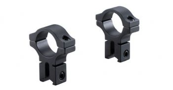 "BKL 257H 3/8"" & 11mm Dovetail Rimfire Airgun Rifle Scope 1""/25mm Mount Rings - Extra High profile"